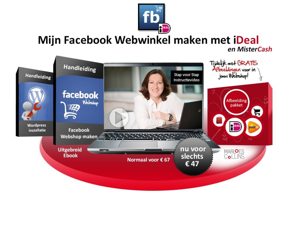 facebook webshop maken met ideal